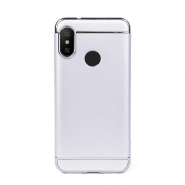 Луксозен кейс/калъф от 3 части за Xiaomi Redmi 6 Pro, Case, Твърд, Сребрист