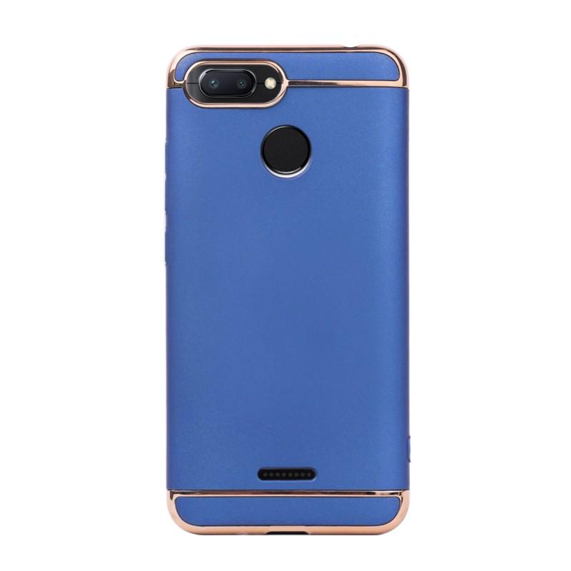 Луксозен кейс/калъф от 3 части за Xiaomi Redmi 6, Case, Твърд, Син
