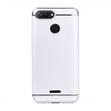 Луксозен кейс/калъф от 3 части за Xiaomi Redmi 6, Case, Твърд, Сребрист