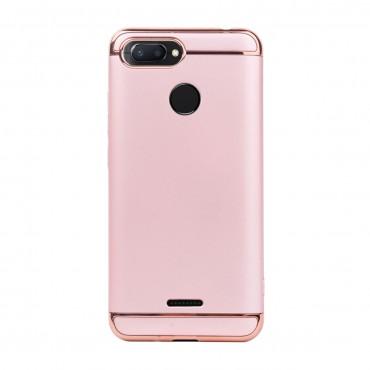 Луксозен кейс/калъф от 3 части за Xiaomi Redmi 6, Case, Твърд, Розово злато