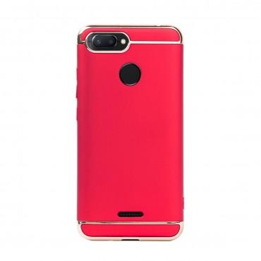 Луксозен кейс/калъф от 3 части за Xiaomi Redmi 6, Case, Твърд, Червен