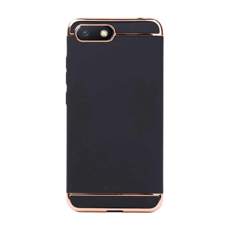 Луксозен кейс/калъф от 3 части за Xiaomi Redmi 6A, Case, Твърд, Черен