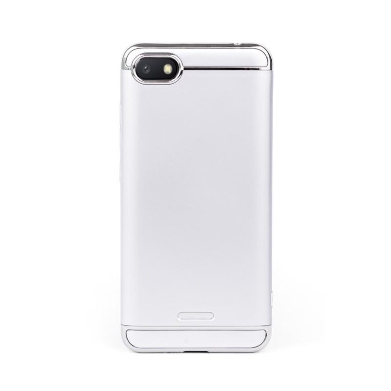 Луксозен кейс/калъф от 3 части за Xiaomi Redmi 6A, Case, Твърд, Сребрист