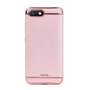 Луксозен кейс/калъф от 3 части за Xiaomi Redmi 6A, Case, Твърд, Розово злато