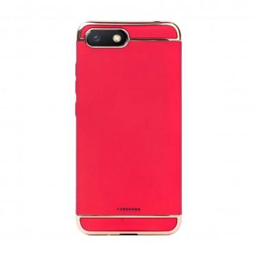 Луксозен кейс/калъф от 3 части за Xiaomi Redmi 6A, Case, Твърд, Червен