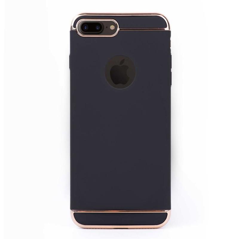 Луксозен кейс/калъф от 3 части за iPhone 8 Plus, Case, Твърд, Черен