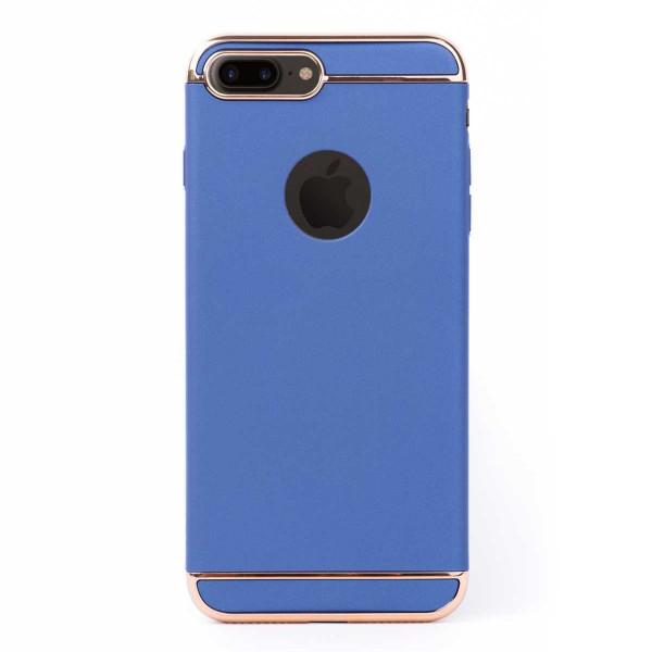 Луксозен кейс/калъф от 3 части за iPhone 8 Plus, Case, Твърд, Син
