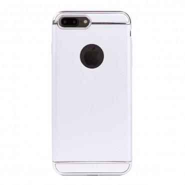 Луксозен кейс/калъф от 3 части за iPhone 8 Plus, Case, Твърд, Сребрист