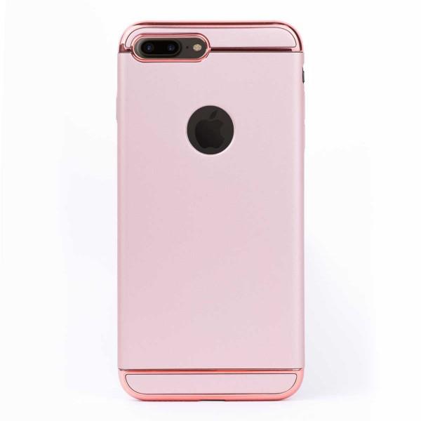 Луксозен кейс/калъф от 3 части за iPhone 8 Plus, Case, Твърд, Розово злато