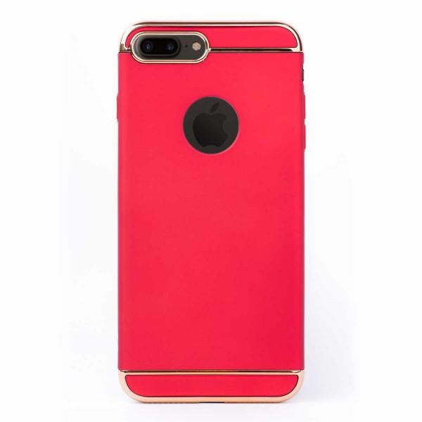 Луксозен кейс/калъф от 3 части за iPhone 7 Plus, Case, Твърд, Червен