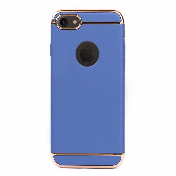 Луксозен кейс/калъф от 3 части за iPhone 8, Case, Твърд, Син