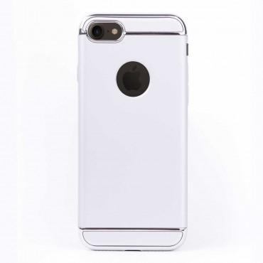 Луксозен кейс/калъф от 3 части за iPhone 7, Case, Твърд, Сребрист