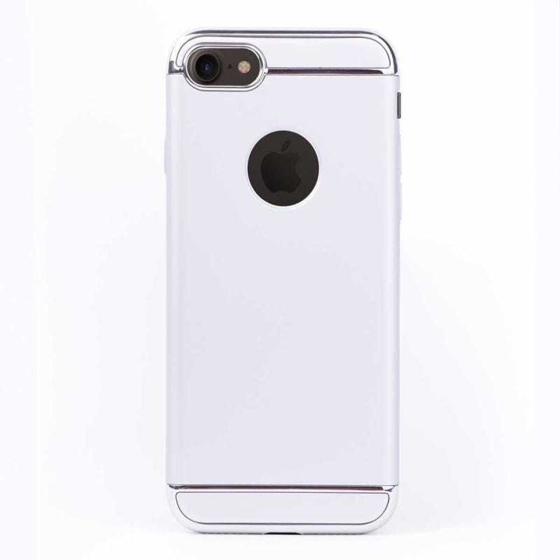 Луксозен кейс/калъф от 3 части за iPhone 8, Case, Твърд, Сребрист