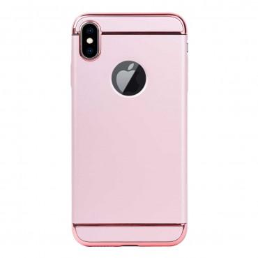 Луксозен кейс/калъф от 3 части за iPhone X, Case, Твърд, Розово злато