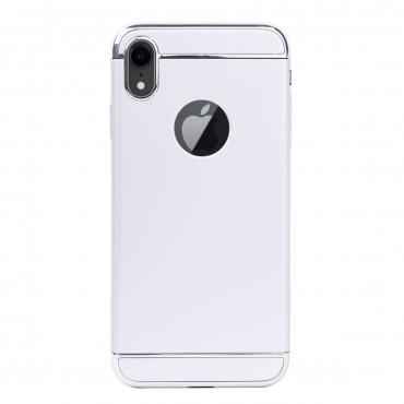Луксозен кейс/калъф от 3 части за iPhone XR, Case, Твърд, Сребрист