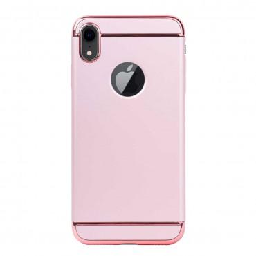 Луксозен кейс/калъф от 3 части за iPhone XR, Case, Твърд, Розово злато