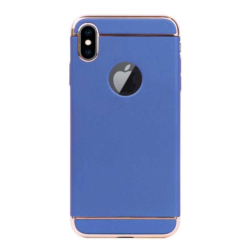 Луксозен кейс/калъф от 3 части за iPhone XS Max, Case, Твърд, Син