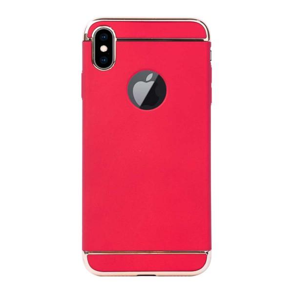 Луксозен кейс/калъф от 3 части за iPhone XS Max, Case, Твърд, Червен