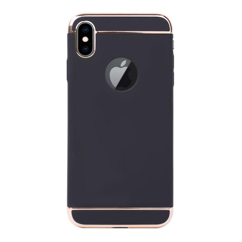 Луксозен кейс/калъф от 3 части за iPhone XS, Case, Твърд, Черен