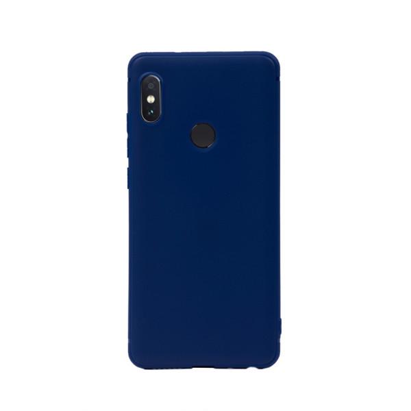 Цветен силиконов кейс/гръб за Xiaomi Redmi Note 5/Note 5 Pro, Мек, Син