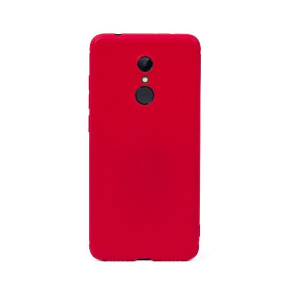 Цветен силиконов кейс/гръб за Xiaomi Redmi 5, Мек, Червен
