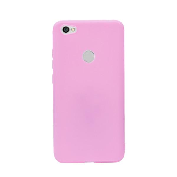 Цветен силиконов кейс/гръб за Xiaomi Redmi Note 5A Prime, Мек, Розов