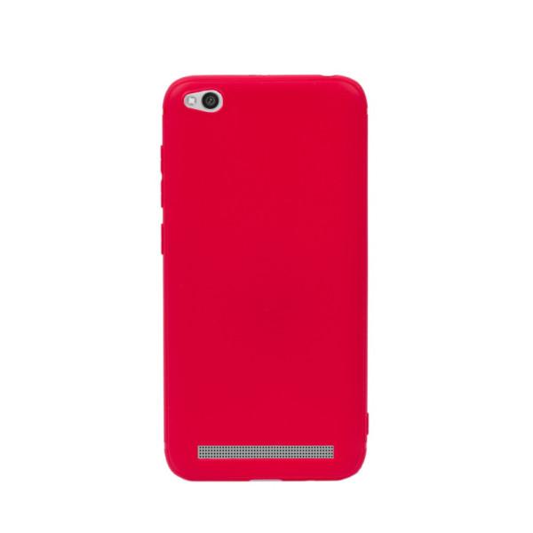 Цветен силиконов кейс/гръб за Xiaomi Redmi 5A, Мек, Червен