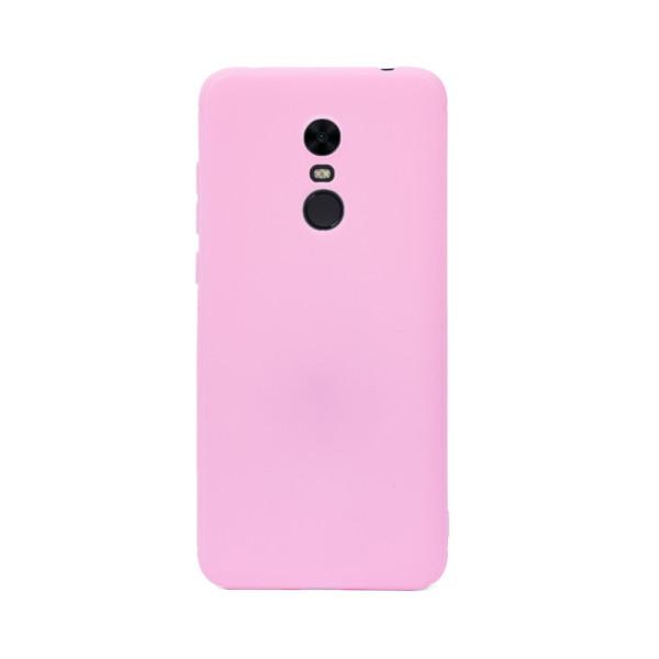 Цветен силиконов кейс/гръб за Xiaomi Redmi 5 Plus, Мек, Розов