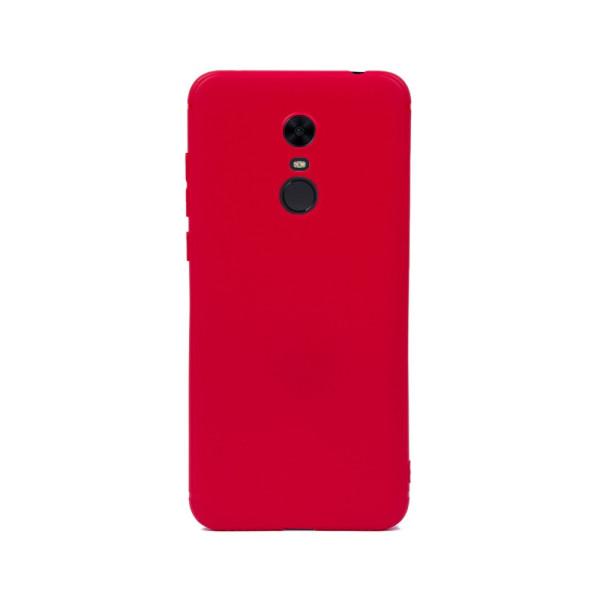 Цветен силиконов кейс/гръб за Xiaomi Redmi 5 Plus, Мек, Червен