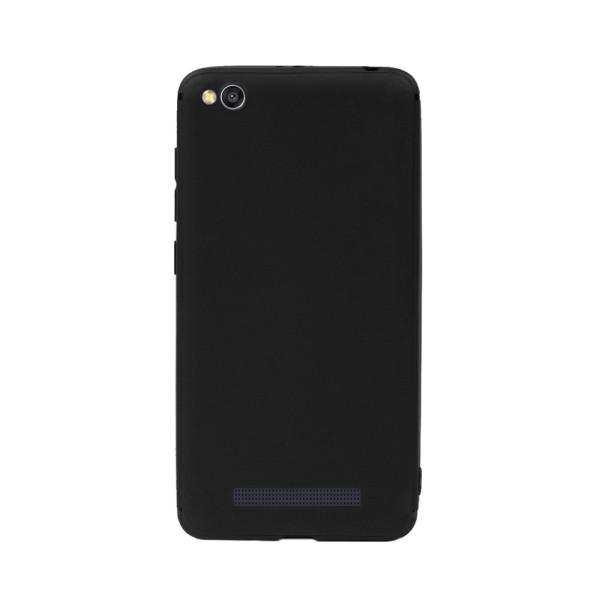 Цветен силиконов кейс/гръб за Xiaomi Redmi 4A, Мек, Черен