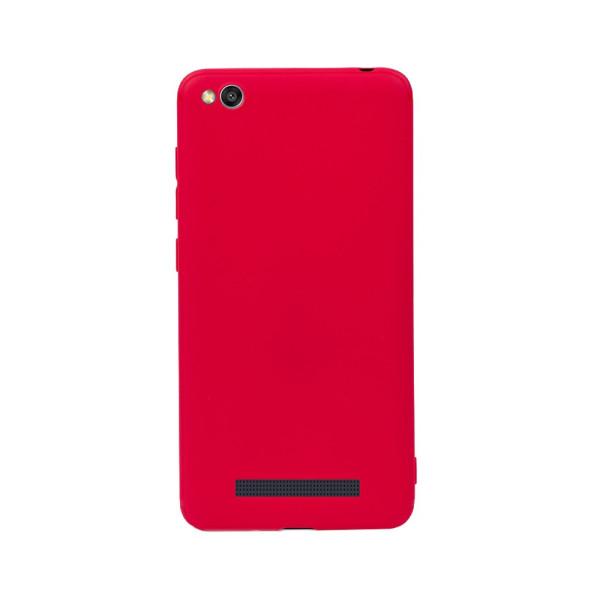 Цветен силиконов кейс/гръб за Xiaomi Redmi 4A, Мек, Червен