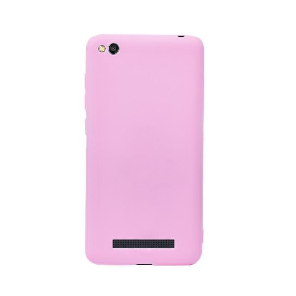 Цветен силиконов кейс/гръб за Xiaomi Redmi 4A, Мек, Розов