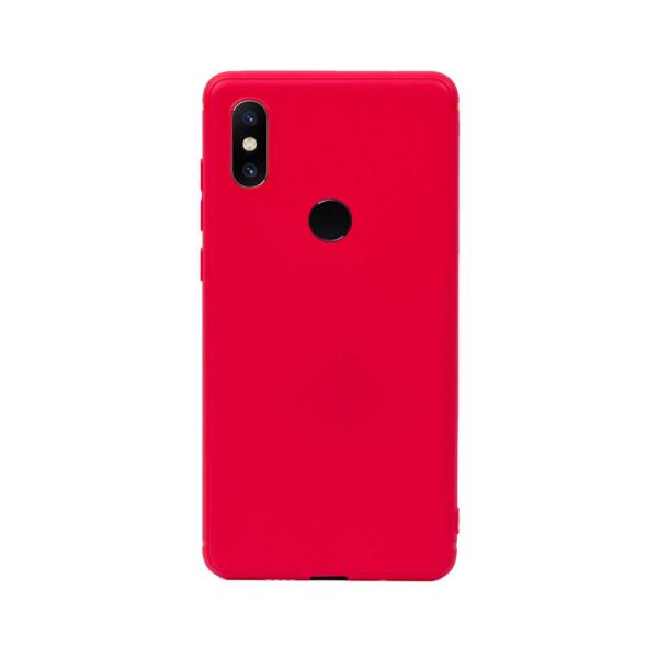 Цветен силиконов кейс/гръб за Xiaomi Mi Mix 2S, Мек, Червен