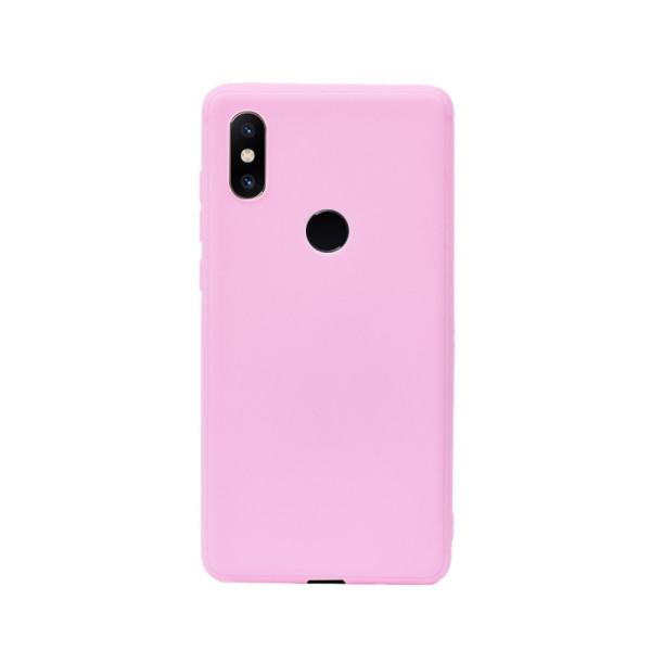 Цветен силиконов кейс/гръб за Xiaomi Mi Mix 2S, Мек, Розов