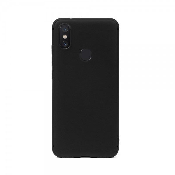 Цветен силиконов кейс/гръб за Xiaomi Mi 8, Мек, Черен