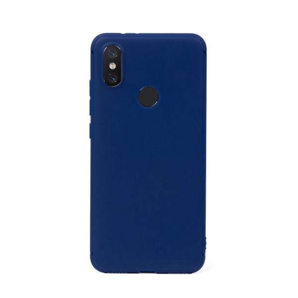 Цветен силиконов кейс/гръб за Xiaomi Mi 8, Мек, Син