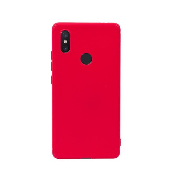 Цветен силиконов кейс/гръб за Xiaomi Mi 8SE, Мек, Червен