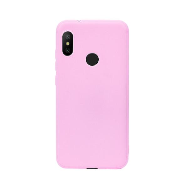 Цветен силиконов кейс/гръб за Xiaomi Redmi 6 Pro/Mi A2 Lite, Мек, Розов