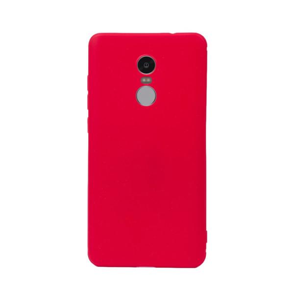 Цветен силиконов кейс/гръб за Xiaomi Redmi Note 4, Мек, Червен