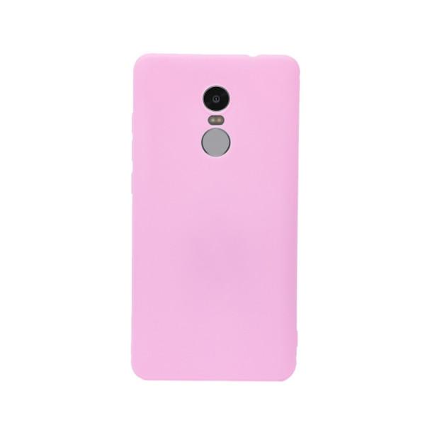 Цветен силиконов кейс/гръб за Xiaomi Redmi Note 4X, Мек, Розов