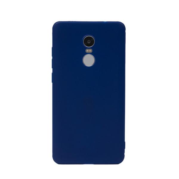 Цветен силиконов кейс/гръб за Xiaomi Redmi Note 4X, Мек, Син