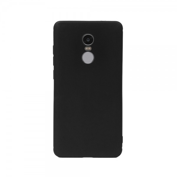 Цветен силиконов кейс/гръб за Xiaomi Redmi Note 4, Мек, Черен