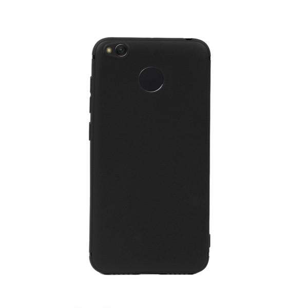 Цветен силиконов кейс/гръб за Xiaomi Redmi 4X, Мек, Черен