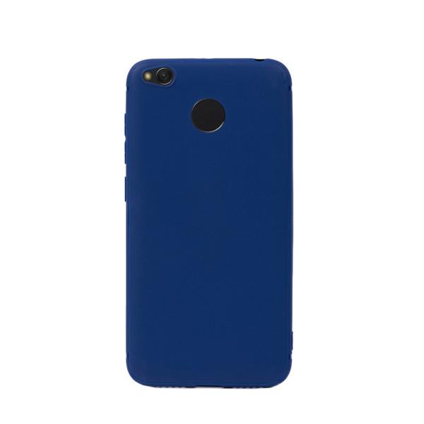 Цветен силиконов кейс/гръб за Xiaomi Redmi 4X, Мек, Син