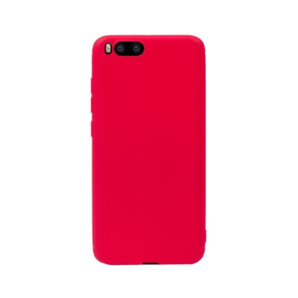 Цветен силиконов кейс/гръб за Xiaomi Mi 6, Мек, Червен