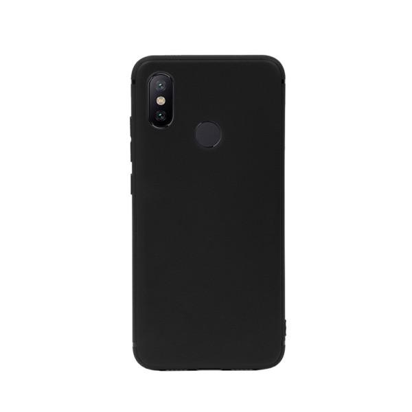 Цветен силиконов кейс/гръб за Xiaomi Mi 6X/Mi A2, Мек, Черен