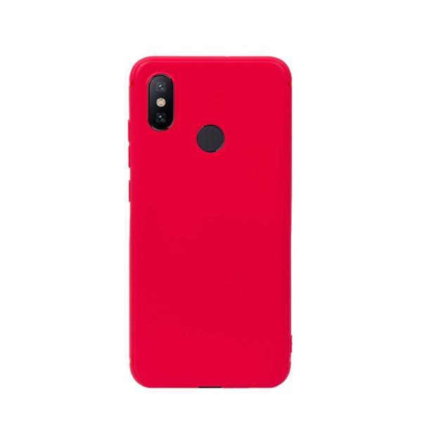 Цветен силиконов кейс/гръб за Xiaomi Mi 6X/Mi A2, Мек, Червен