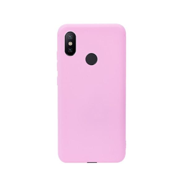 Цветен силиконов кейс/гръб за Xiaomi Mi 6X/Mi A2, Мек, Розов