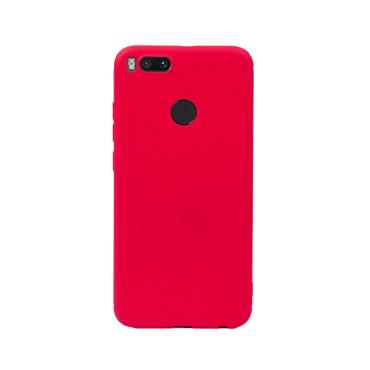Цветен силиконов кейс/гръб за Xiaomi Mi 5X/Mi A1, Мек, Червен