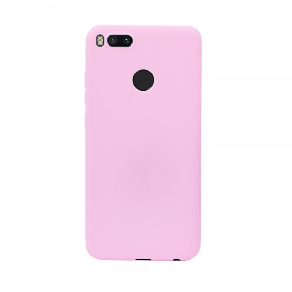 Цветен силиконов кейс/гръб за Xiaomi Mi 5X/Mi A1, Мек, Розов